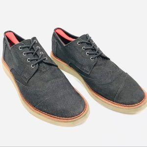 Toms Mens Dark Denim Oxford Shoes Size 10 - EUC!!!